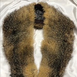 "Vtg Fox Fur collar/scarf 35""-Unique Estate Find"